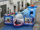 Im Freien erstaunlicher Haifisch-aufblasbarer Spielplatz