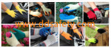 Латекс пены покрыл перчатки безопасности Dkl417 связанного шнуром