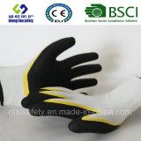 Латекс заморозил перчатки, перчатки работы безопасности отделки Sandy (SL-RS302)