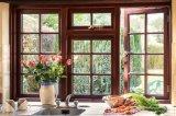 Окно Casement двойной застеклять алюминиевое одетое деревянное