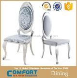 Conglingのスタック可能錬鉄のイタリアの革食堂の椅子