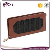 Повелительница Портмоне Macrame кожаный бумажника PU Brown оптовой продажи фабрики Fani multi-Fonction