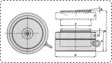 Гидровлический инструмент Jack гидровлический поднимаясь для поднимать утяжеленное масло Jack Jack бутылки баллона товаров гидровлическое
