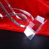 Moderne Kristallglas-Trophäe für Andenken