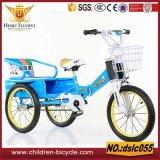 Vendita cestino d'acciaio e dell'orlo variopinto con i tricicli del bambino della sede posteriore