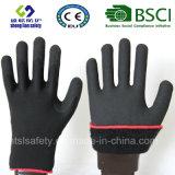 Enduit de nitriles, gants de travail de sûreté de fini de Sandy (SL-NS113)
