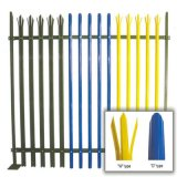 Clôture en acier de palissade pulvérisée par PVC en métal/frontière de sécurité de jardin