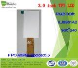 """étalage de TFT LCD de 3.0 """" 960X240 RVB, Ili8961A2, 40pin pour la position, sonnette, médicale"""