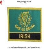 フラグの軍隊の均一Overlockの端の刺繍のバッジ(YH-EB027)