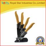 5 parti di Zirconia della lama di ceramica delle lame di bambù della maniglia con il supporto