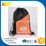 sac de cordon de promotion du polyester 210d avec la poche latérale