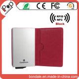 Бумажник преграждая экран кредитной карточки RFID