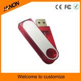 Memoria Flash plástica del USB del mecanismo impulsor 2.0 de la pluma del USB con su insignia