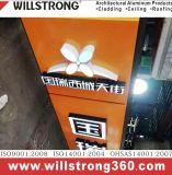 Matière composite en aluminium de Willstrong de poids léger pour le Signage