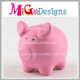 Caixa de moeda cerâmica colorida do banco do dinheiro do projeto para miúdos