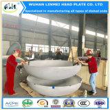 Cabeza torisférica del diámetro grande del acero inoxidable / cabeza elíptica / cápsulas de extremo dished