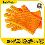 Hitzebeständiger Silikon BBQ-Handschuh-Ofen-Handschuh