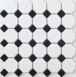 بيضاء و [موسيك تيل] سوداء خزفيّ