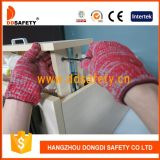 7 Katoenen van de maat Red&Grey Gemengde Koord Gebreide Handschoenen Dck512