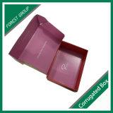 Упаковывая коробка Kraft картонной коробки Corrugated бумажная с внутренним печатание логоса