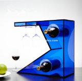 Caixa de presente plástica desobstruída por atacado do vidro de vinho