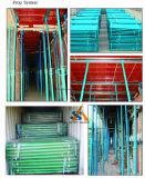 El apuntalamiento resistente del andamio apoya la construcción y el material verdadero