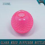 geformter Rosen-roter Reeddiffuser- (zerstäuber)glasflasche der Ananas-350ml mit Rattan