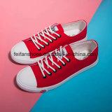 多彩な女性のサイズは加硫させたズック靴、標準的なゴム製唯一のズック靴(FF1027-03)を