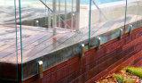 Diseño del pasamano del balcón/pasamano de cristal de Frameless/barandilla del vidrio Tempered
