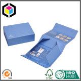 Коробка подарка бумаги картона серебряного логоса цветка твердая