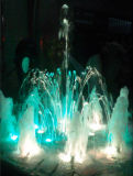 音楽ダンスの結婚式の装飾水噴水