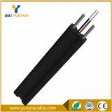Câble fibre optique 1 de FRP FTTH câble d'intérieur de 2 4 fibres avec la jupe noire de couleur
