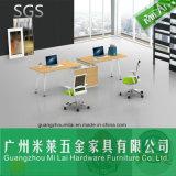 ステンレス鋼の足を搭載する有用なオフィス・コンピュータワークステーション家具の事務机