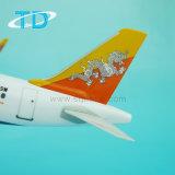 Aeroplano volante degli aeroplani di modello di A319neo Drukair 33.4cm