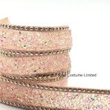2017 difficoltà calda della nuova della protezione di colore rosa 15mm del branello di vetro catena della pietra per le tessile (TP-051)