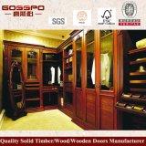 Wardrobe de madeira feito sob encomenda antigo do quarto (GSP9-007)