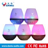 Música superventas de la tarjeta del TF del soporte del altavoz de Bluetooth con la luz del LED