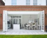 Portelli Bifold di vetro interni di piegatura di disegno di alluminio del portello