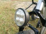 Triciclo gordo da carga do pneu da roda grande de 4.0 polegadas com o suporte de aço traseiro, bicicleta elétrica de 3 rodas