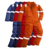 Bata ignífuga para el Workwear de la seguridad con las cintas reflexivas