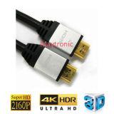고품질 1m/2m/3m/5m 2160p 1.4/2.0 HDMI 케이블, Ultral HDTV/3D/4k를 위한 지원