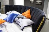Neuer eleganter Entwurfs-modernes echtes Leder-Bett (HC325) für Schlafzimmer