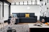 L em forma de tecido sofá-cama com armazenamento, Sofá Cum Bed (VV988B)