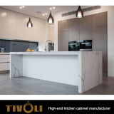 건물 부엌 찬장은 부엌 조리대 디자인 Tivo-0153V를 주문을 받아서 만들었다