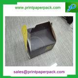 カスタム食品等級のキャリアの昼食のパッケージはクラフト紙のカップケーキボックスを囲む