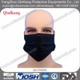 4 a gettare maneggiano la maschera di protezione attiva nera del carbonio con Earloop