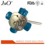 Novo tipo sanitário 4 válvula do aço inoxidável de esfera da maneira