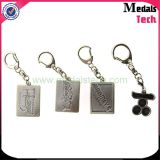 China-Lieferant Soem-antikes silbernes Metall Keychain mit Stich-Zeichen