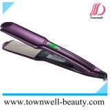 Ferro piano dei capelli impermeabili professionali del fornitore con i piatti larghi e la funzione di vibrazione