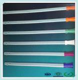 PVC transparente del grado médico de 6fr al catéter del conector de la succión 18fr con la ISO
